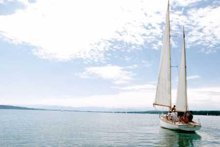 Optimisten-Regatta Segelboot