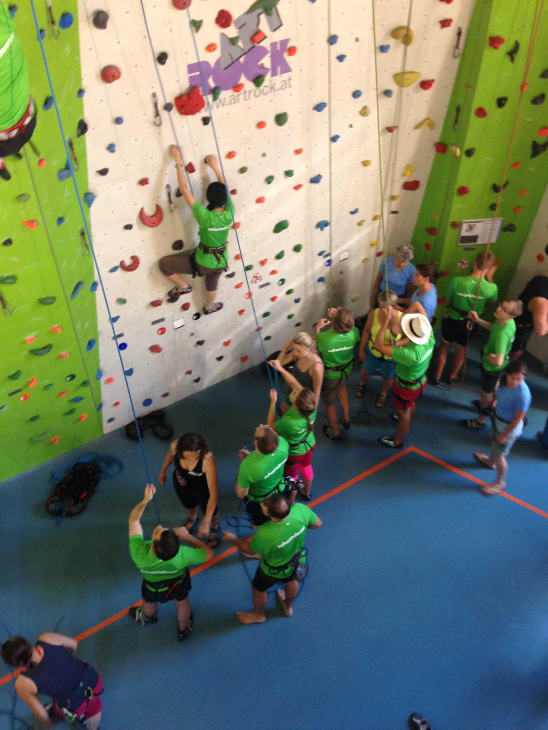 Teamevent Klettern