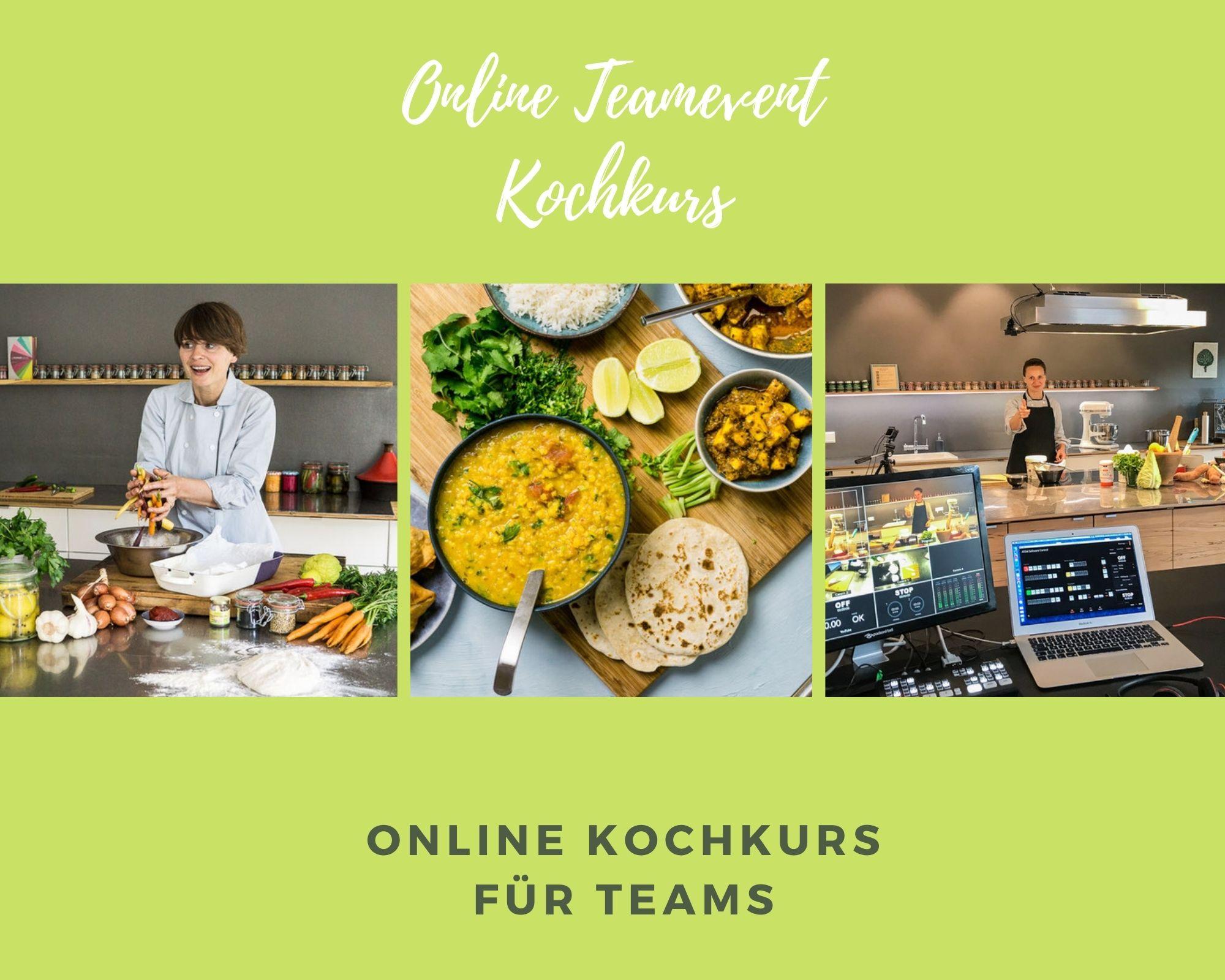 Online Teamevent Kochkurs
