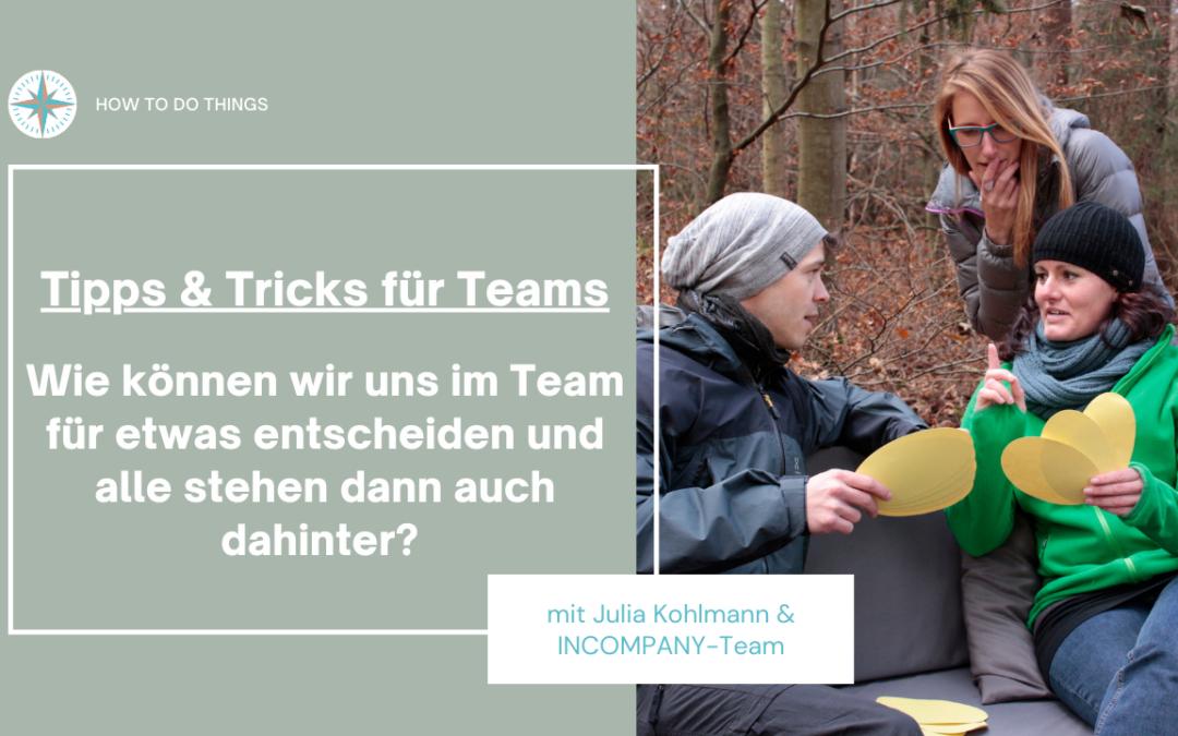 Tipps & Tricks für Teams